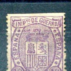 Sellos: EDIFIL 155. 10 CTS IMPUESTO DE GUERRA. AÑO 1875. NUEVO PERO LE FALTAN DIENTES. Lote 35773212