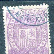 Sellos: EDIFIL 155. 10 CTS IMPUESTO DE GUERRA. AÑO 1875. MATASELLADO.. Lote 35773244