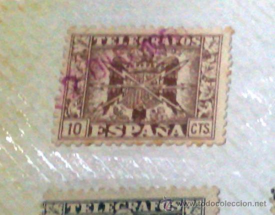 Sellos: CIRCA 1878-1940.- HOJA CON COLECCIÓN DE 37 SELLOS DE LA ÉPOCA. - Foto 3 - 36003019