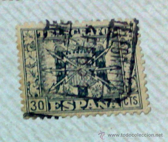 Sellos: CIRCA 1878-1940.- HOJA CON COLECCIÓN DE 37 SELLOS DE LA ÉPOCA. - Foto 13 - 36003019