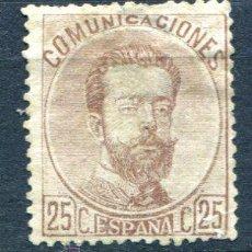 Sellos: EDIFIL 124. 25 CTS AMADEO I. NUEVO SIN GOMA Y GRUESO FIJASELLOS.. Lote 41513953