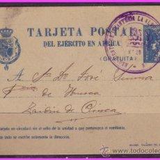 Sellos: 1921 TARJETA POSTAL EJÉRCITO DE ÁFRICA, EDIFIL Nº 2A (O), TAFENIT A ZAIDÍN (HUESCA). Lote 36930593