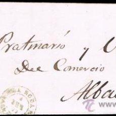 Sellos: ALBACETE - EDI O 107 - CARTA CIRC. A ALBACETE 1871 - FECH. T.II