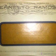 Sellos: SOBRE DE LA FABRICA DE TARJETAS POSTALES ERNESTO RAMOS FRANQUEO MADRID ALMANSA 1918. Lote 39439457