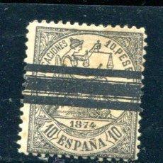 Sellos: EDIFIL 152 S. 10 PTS ALEGORIA DE LA JUSTICIA. AÑO 1874. BARRADO.. Lote 40571974