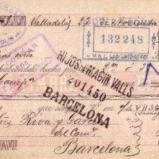 Sellos: ESPAÑA. FISCAL. (CAT.GÁLVEZ 49).1898.LETRA DE CAMBIO DE VALLADOLID.REINTEGRADA 30C. IMPTO. GUERRA.RR. Lote 27416651
