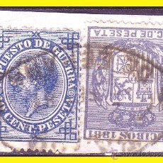 Sellos: FISCALES 1881 RECIBOS, ALEMANY Nº 32 (O) + IMPUESTO DE GUERRA Nº 8 (O). Lote 44333178