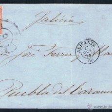 Sellos: 1859 ALICANTE A P.CARAMIÑAL. Lote 46782782