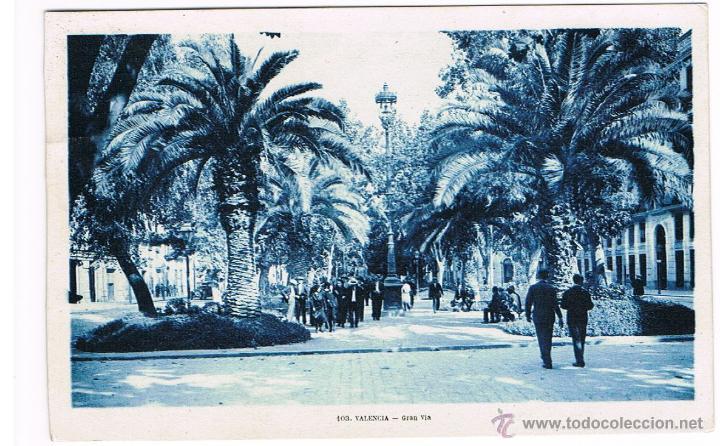 Sellos: POSTAL DE VALENCIA, GRAN VÍA, CIRCULADA, AUSTRIA 1931 SELLO ALFONSO XIII, HOTEL NACIONAL VALENCIA - Foto 2 - 47883309