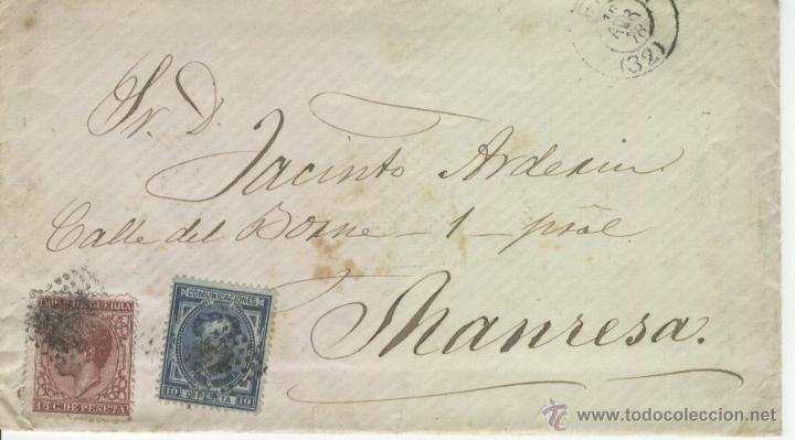 CARTA MANUSCRITA MANUSCRITO EN LERIDA SOBRE SELLOS AÑO 1878 JACINTO ARDERIU MANRESA (Sellos - España - Otros Clásicos de 1.850 a 1.885 - Cartas)