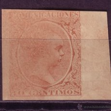 Sellos: CL2-9-ALFONSO XIII PELON 10 CTS SIN DENTAR. IMPRESION DILUIDA (*) SIN GOMA. Lote 48905719