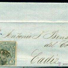 Sellos: *** MUY BONITA CARTA 1875 MAT. FECHADOR BARCELONA SOBRE EDIFIL 153-154 ***. Lote 49903728