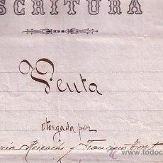 Sellos: CP-FISCALES PAPEL SELLADO 1889. ESCRITURA VENTA MANRESA. Lote 52226470