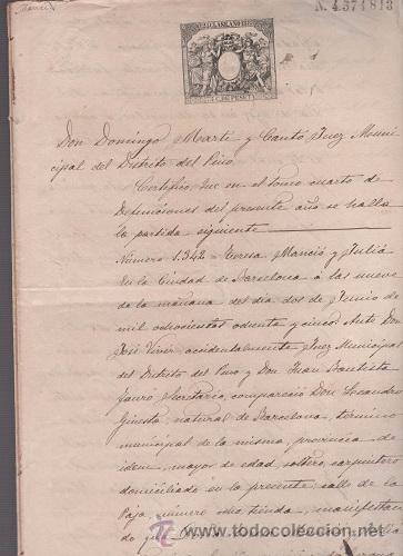 Sellos: CAR-MUS-6-6a- FISCAL Curioso documento de Certificado notarial DUPLICADO. VER DESCRIPCION - Foto 3 - 52958332
