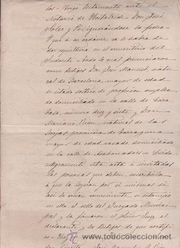 Sellos: CAR-MUS-6-6a- FISCAL Curioso documento de Certificado notarial DUPLICADO. VER DESCRIPCION - Foto 6 - 52958332