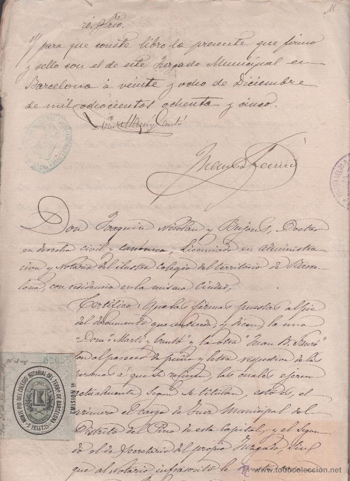 Sellos: CAR-MUS-6-6a- FISCAL Curioso documento de Certificado notarial DUPLICADO. VER DESCRIPCION - Foto 7 - 52958332