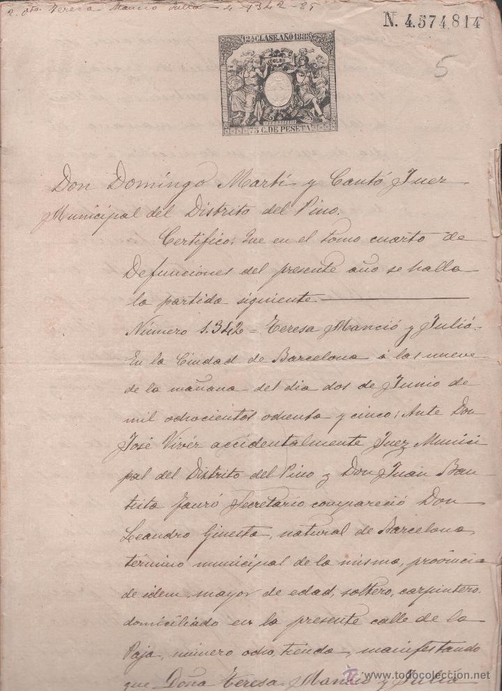 Sellos: CAR-MUS-6-6a- FISCAL Curioso documento de Certificado notarial DUPLICADO. VER DESCRIPCION - Foto 9 - 52958332