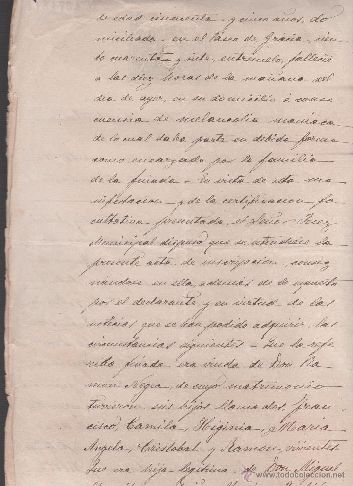 Sellos: CAR-MUS-6-6a- FISCAL Curioso documento de Certificado notarial DUPLICADO. VER DESCRIPCION - Foto 10 - 52958332