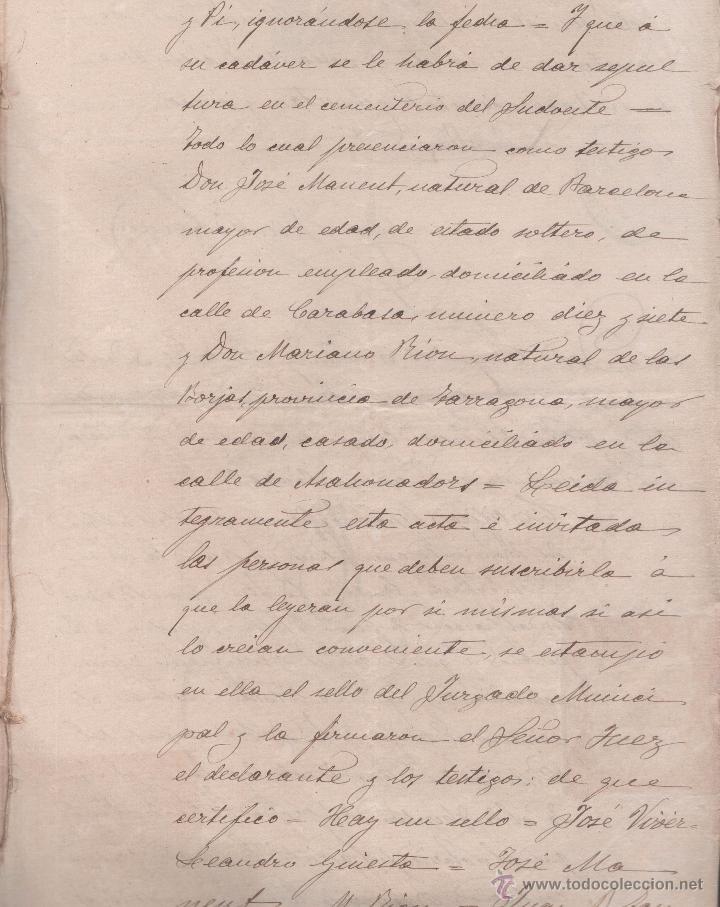 Sellos: CAR-MUS-6-6a- FISCAL Curioso documento de Certificado notarial DUPLICADO. VER DESCRIPCION - Foto 11 - 52958332