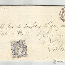 CIRCULADA Y ESCRITA 1870 DE CABRA CORDOBA A VALENCIA