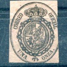 Sellos: EDIFIL 36. UNA ONZA, ESCUDO DE ESPAÑA. AÑO 1855. NUEVO SIN GOMA. Lote 55234409