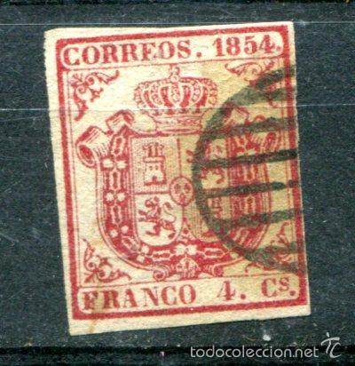 EDIFIL 33. 4 CUARTOS AÑO 1854 (Sellos - España - Otros Clásicos de 1.850 a 1.885 - Usados)