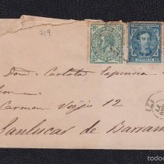 Sellos: 1877.- SEVILLA A SANLUCAR DE BARRAMEDA (CÁDIZ). Lote 56462650