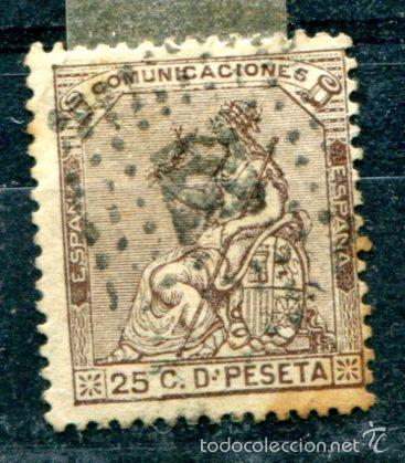 EDIFIL 135. 40 CTS ALEGORÍA DE ESPAÑA, PRIMERA REPÚBLICA, AÑO 1873. MATASELLADO (Sellos - España - Otros Clásicos de 1.850 a 1.885 - Usados)