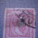 Sellos: SELLO ESPAÑA - EDIFIL 157 - CARLISTA USADO - 1874 - 16 MARAVEDIES - ROSA - CARLOS VII - CATALUÑA -. Lote 57634191