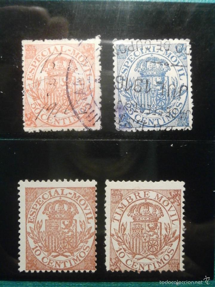 Sellos: Sello - Timbre Movil - 20 diferentes + 3 Especial Movil - De 1884 a 1903, 1916, Usados y Nuevos Lote - Foto 2 - 57739235