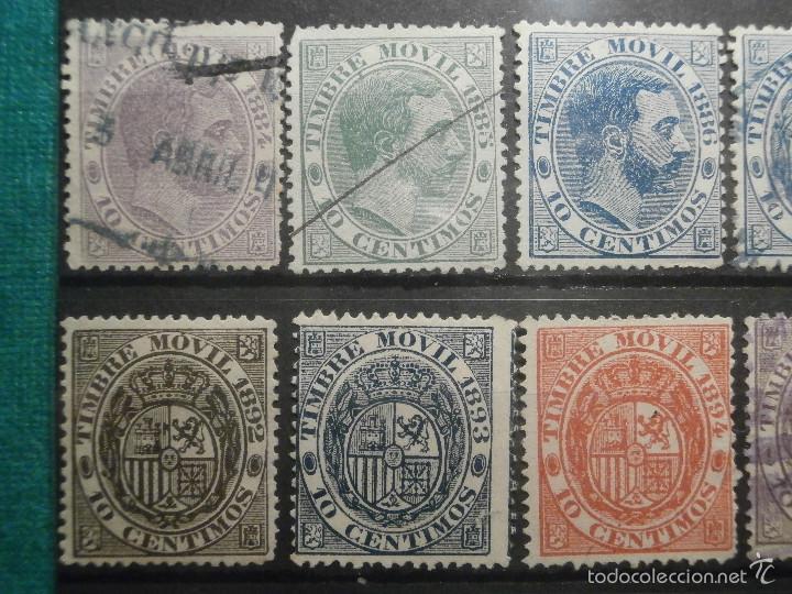 Sellos: Sello - Timbre Movil - 20 diferentes + 3 Especial Movil - De 1884 a 1903, 1916, Usados y Nuevos Lote - Foto 3 - 57739235