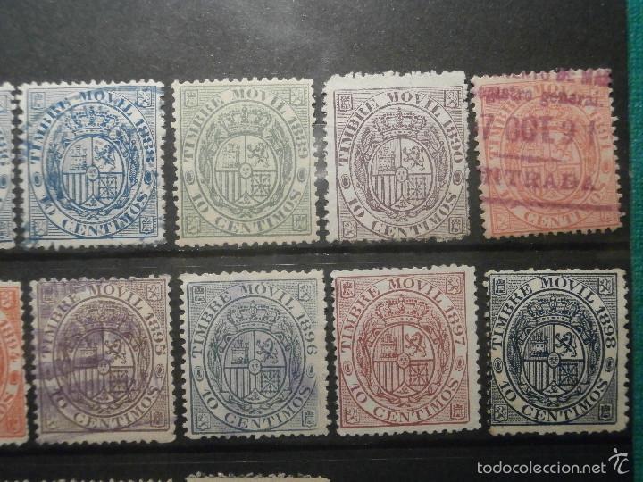 Sellos: Sello - Timbre Movil - 20 diferentes + 3 Especial Movil - De 1884 a 1903, 1916, Usados y Nuevos Lote - Foto 4 - 57739235