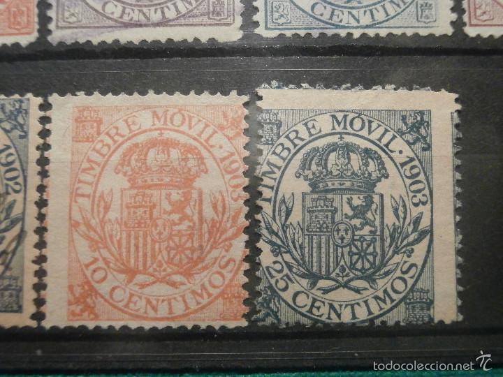 Sellos: Sello - Timbre Movil - 20 diferentes + 3 Especial Movil - De 1884 a 1903, 1916, Usados y Nuevos Lote - Foto 6 - 57739235