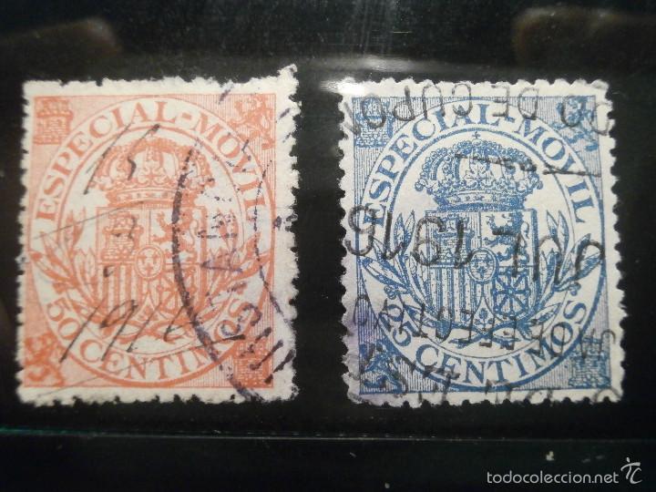 Sellos: Sello - Timbre Movil - 20 diferentes + 3 Especial Movil - De 1884 a 1903, 1916, Usados y Nuevos Lote - Foto 7 - 57739235