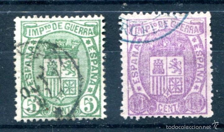 EDIFIL 154/155. SERIE COMPLETA, ESCUDO DE ESPAÑA. USADOS. (Sellos - España - Otros Clásicos de 1.850 a 1.885 - Usados)