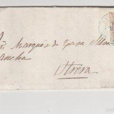 Sellos: CARTA DE LORA DEL RÍO A UTRERA DEL 20 FEBRE 1886. FRANQUEADO CON EDIFIL 210. MATASELLO TREBOL EN -. Lote 57755477