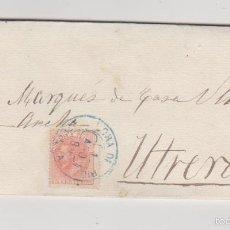 Sellos: CARTA DE LORA DEL RÍO A UTRERA DEL 1 AGOSTO 1886. FRANQUEADO CON EDIFIL 210. MATASELLO TREBOL EN -. Lote 57755843