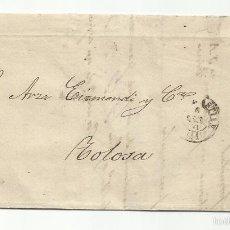 Selos: CIRCULADA Y ESCRITA 1871 DE SAN SEBASTIAN A TOLOSA VER FOTO. Lote 57790561