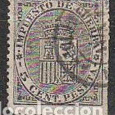 Sellos: EDIFIL 141, ESCUDO DE ESPAÑA, SELLO DE IMPUESTO DE GUERRA, USADO. Lote 63675619