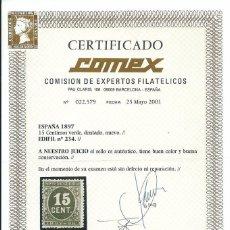 Sellos: EDIFIL 234 CERTIFICADO COMEX. Lote 67752673