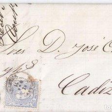 Sellos: CARTA DE MARCHENA. SEVILLA. FECHADOR. MATRONA 1871. Lote 68223877