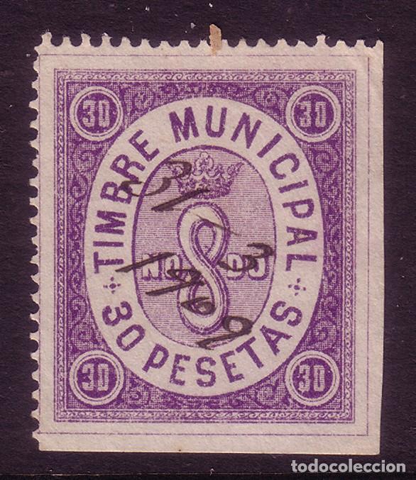 ZZ21- FISCALES TIMBRE MUNICIPA 30 PESETAS SEVILLA (Sellos - España - Otros Clásicos de 1.850 a 1.885 - Nuevos)