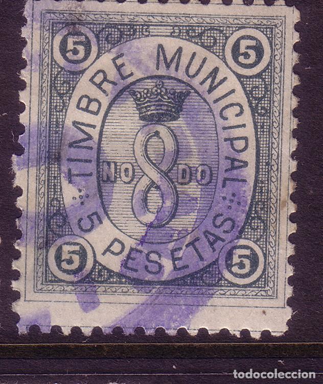 ZZ11- FISCALES TIMBRE MUNICIPAL SEVILLA 5 PTAS (Sellos - España - Otros Clásicos de 1.850 a 1.885 - Nuevos)
