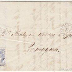 Sellos: G.P.: 107- BARCELONA A ZARAGOZA. 1871.. Lote 75197267