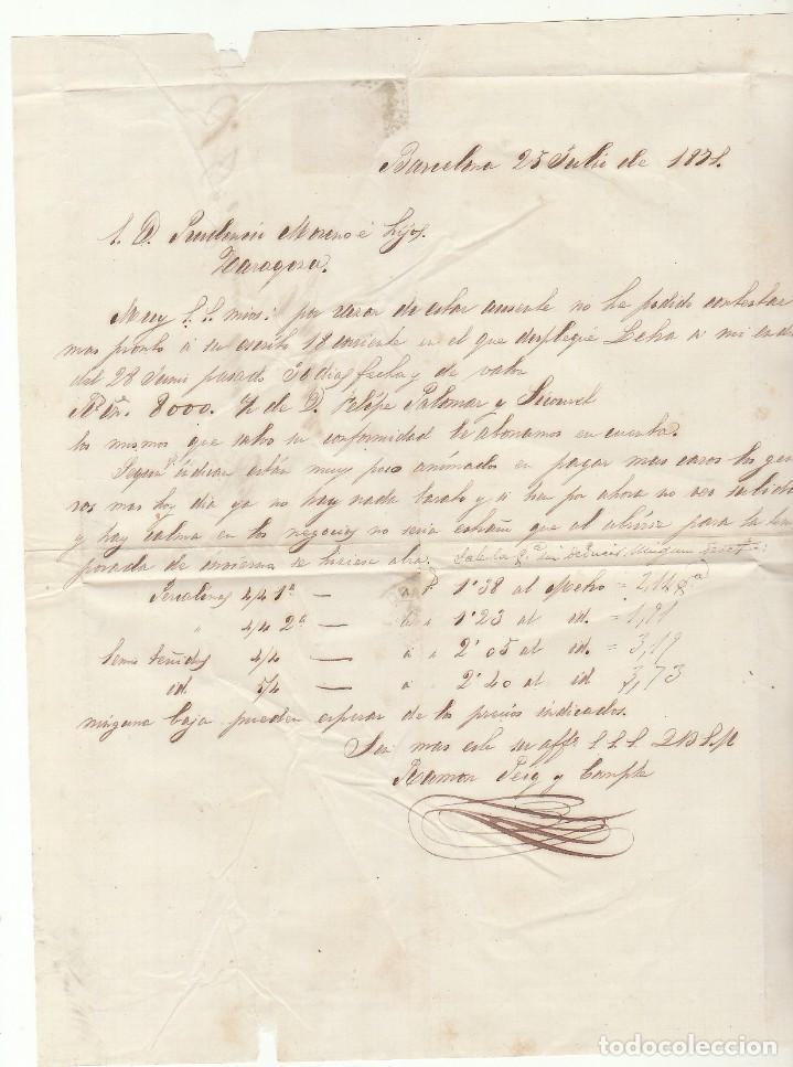 Sellos: G.P.: 107- BARCELONA a ZARAGOZA. 1871. - Foto 3 - 75197267