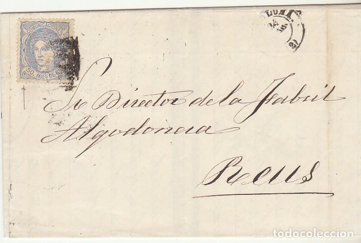 G.P.: 107- BARCELONA A REUS. 1872. (Sellos - España - Otros Clásicos de 1.850 a 1.885 - Cartas)