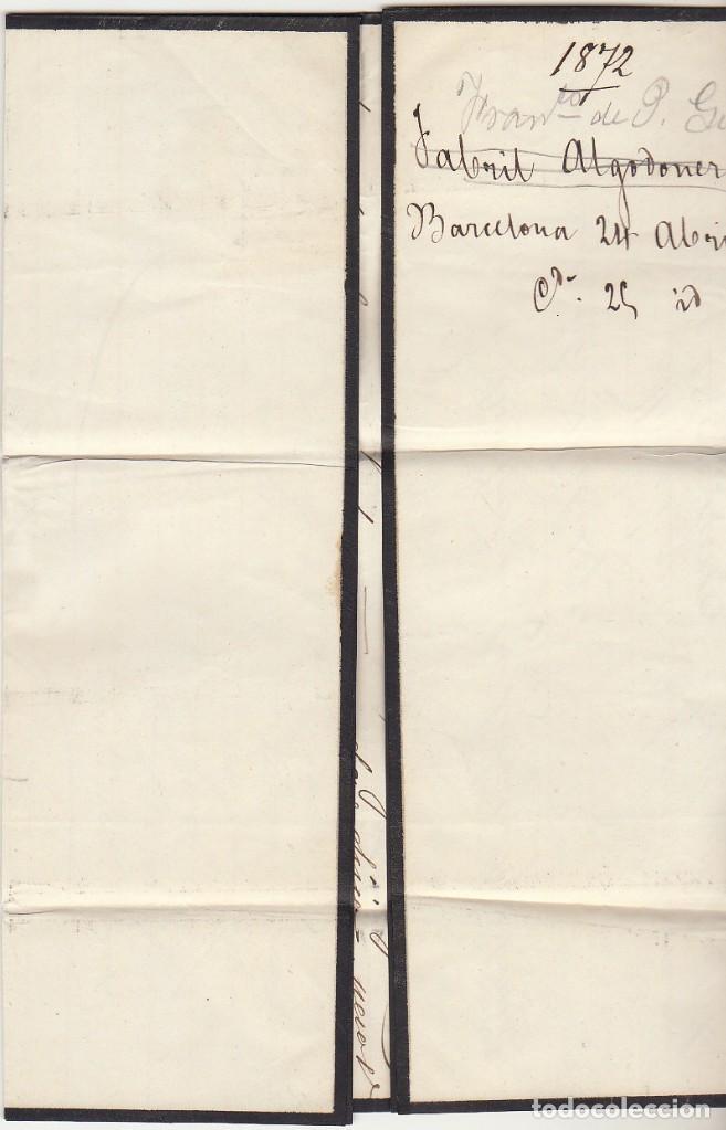 Sellos: G.P.: 107- BARCELONA a REUS. 1872. - Foto 3 - 75197599