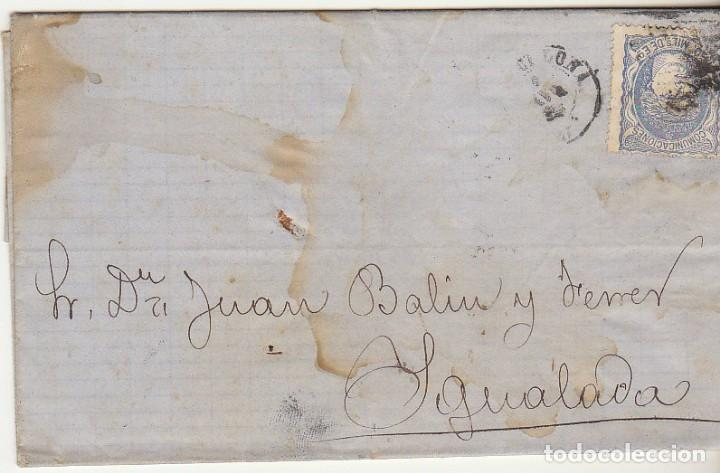 SELLO 107 : BARCELONA A YGUALADA AÑO 1872. (Sellos - España - Otros Clásicos de 1.850 a 1.885 - Cartas)