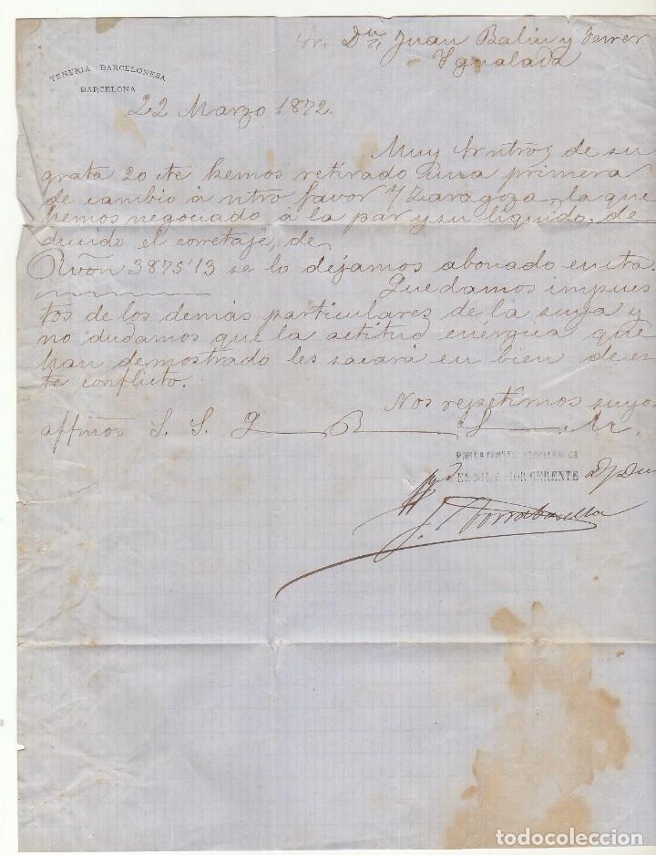 Sellos: Sello 107 : BARCELONA a YGUALADA año 1872. - Foto 3 - 75199143