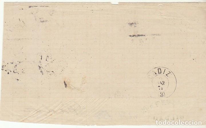 Sellos: FRONTAL : Sello 107 (PAREJA). BILBAO a CADIZ. 1871. - Foto 2 - 75200671